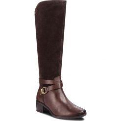 Kozaki CAPRICE - 9-25609-21 Dk Brown Comb 329. Brązowe kowbojki damskie Caprice, ze skóry, przed kolano, na wysokim obcasie, na obcasie. Za 519,90 zł.