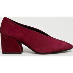 Vagabond - Czółenka. Brązowe buty ślubne damskie marki Vagabond, z materiału, na szpilce. W wyprzedaży za 349,90 zł.