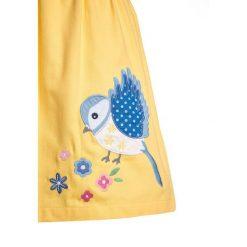Sukienki dziewczęce letnie: JoJo Maman Bébé BIRD PINAFORE DRESS Sukienka letnia lemon