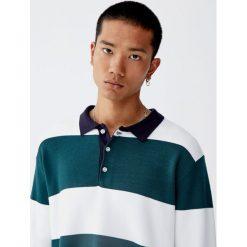 Koszulka polo w stylu rugby z długim rękawem. Zielone koszulki polo marki QUECHUA, m, z elastanu. Za 109,00 zł.