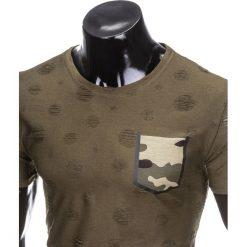T-SHIRT MĘSKI Z NADRUKIEM MORO S868 - KHAKI. Brązowe t-shirty męskie z nadrukiem marki Inny, m, z poliesteru. Za 35,00 zł.