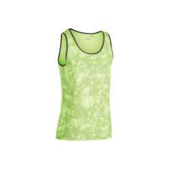 Koszulka Soft 500 żółta. Żółte bluzki sportowe damskie marki ARTENGO, z materiału. W wyprzedaży za 19,99 zł.