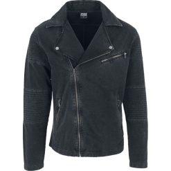 Urban Classics Acid Wash Terry Biker Jacket Kurtka ciemnoszary. Niebieskie kurtki męskie marki Urban Classics, l, z okrągłym kołnierzem. Za 199,90 zł.