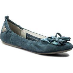 Baleriny damskie lakierowane: Baleriny BUGATTI - J0678-3G-455 Jeans
