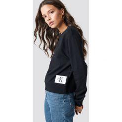 Calvin Klein Bluza Harrisi True Icon Crew Neck - Black. Czarne bluzy rozpinane damskie Calvin Klein, z aplikacjami, z dzianiny. Za 364,95 zł.