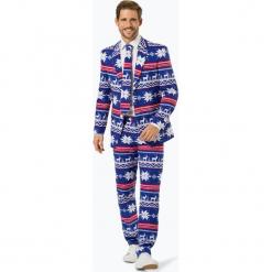 OppoSuits - Garnitur męski z krawatem – The Rudolph, niebieski. Brązowe garnitury OppoSuits. Za 379,95 zł.