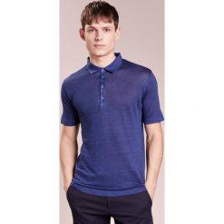 Koszulki polo: 120% Lino UOMO CORTA Koszulka polo crown blue
