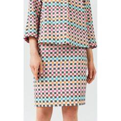 Simple - Spódnica. Szare minispódniczki marki Simple, z bawełny, ołówkowe. W wyprzedaży za 239,90 zł.