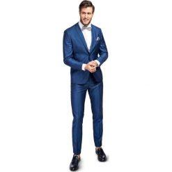 Garnitur LEONARDO SLIM GANS000105. Niebieskie garnitury Giacomo Conti, z tkaniny. Za 2499,00 zł.