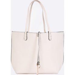 Answear - Torebka dwustronna. Szare shopper bag damskie ANSWEAR, z materiału, do ręki, średnie. W wyprzedaży za 129,90 zł.