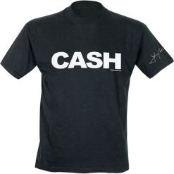 Johnny Cash Signature Sleeve T-Shirt czarny. Czarne t-shirty męskie Johnny Cash, l. Za 74,90 zł.