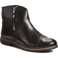 Botki FILIPE - Polido 7689 Preto. Czarne buty zimowe damskie Filipe, ze skóry, na obcasie. W wyprzedaży za 199,00 zł.