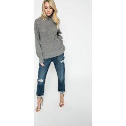 Vero Moda - Sweter Agnes. Niebieskie golfy damskie marki Vero Moda, z bawełny. W wyprzedaży za 99,90 zł.