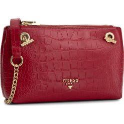 Torebka GUESS - Leila Convertible Cross HWLECR L7413  RED. Czerwone listonoszki damskie marki Guess. W wyprzedaży za 449,00 zł.