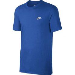 Nike Koszulka Men's NSW Tee Club Embrd Futura niebieska r. S (827021 463). Niebieskie koszulki sportowe męskie Nike, m. Za 82,47 zł.