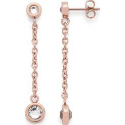 """Biżuteria i zegarki: Kolczyki-wkrętki """"Essenza"""" ze szklanymi kryształkami"""