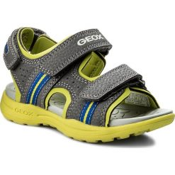 Sandały GEOX - J Vaniett B. B J825XB 015CE C1267 M Dk Grey/Lime. Szare sandały męskie skórzane marki Geox. Za 179,00 zł.