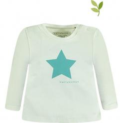 Koszulka w kolorze miętowym. Zielone t-shirty chłopięce z długim rękawem bellybutton, z nadrukiem, z bawełny. W wyprzedaży za 32,95 zł.