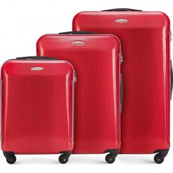 Zestaw walizek 56-3P-97S-30. Czerwone walizki marki Wittchen, z gumy, duże. Za 555,21 zł.