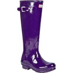 Kalosze HUNTER - W23616 Sovereign Purple. Fioletowe buty zimowe damskie Hunter, z gumy. Za 399,00 zł.