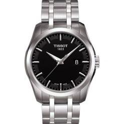 PROMOCJA ZEGAREK TISSOT T-Classic T035.410.11.051.00. Czarne zegarki męskie TISSOT, ze stali. W wyprzedaży za 1227,60 zł.