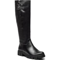 Oficerki TAMARIS - 1-25600-21 Black 001. Szare buty zimowe damskie marki Tamaris, z materiału. Za 459,90 zł.