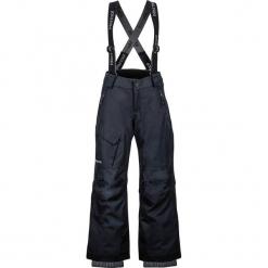 """Spodnie narciarskie """"Edge Insulated"""" w kolorze czarnym. Czarne spodnie chłopięce marki Marmot Kids, z haftami, z materiału. W wyprzedaży za 257,95 zł."""