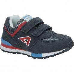 Granatowe buty sportowe na rzepy American K15110G. Szare buciki niemowlęce American, na rzepy. Za 69,99 zł.