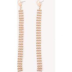 Kolczyki damskie: NA-KD Party Strukturalne wiszące kolczyki w kształcie łańcuszka – Gold