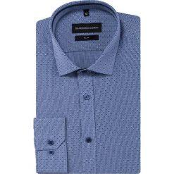 Koszula SIMONE slim KDNS000453. Szare koszule męskie na spinki marki S.Oliver, l, z bawełny, z włoskim kołnierzykiem, z długim rękawem. Za 149,00 zł.