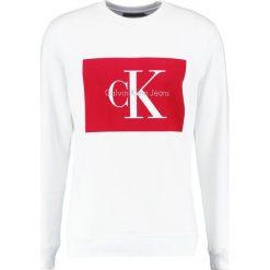 Calvin Klein Jeans HOTORO REGULAR FIT Bluza bright white. Białe kardigany męskie marki Calvin Klein Jeans, m, z bawełny. W wyprzedaży za 359,20 zł.
