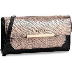 Torebka NOBO - NBAG-D0060-CM23 Czarny Z Brzoskwiniowo-Złotym. Czarne torebki klasyczne damskie Nobo, ze skóry ekologicznej. W wyprzedaży za 99,00 zł.