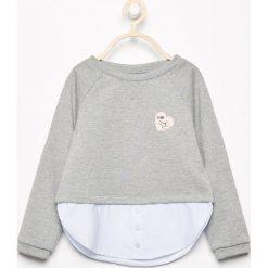 Bluzy dziewczęce: Bluza z serduszkiem - Szary