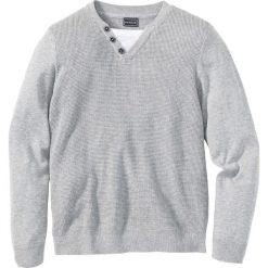 Swetry męskie: Sweter Slim Fit bonprix jasnoszary melanż