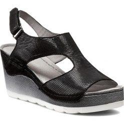 Sandały damskie: Sandały DOLCE PIETRO – 0888-123-01-1 Czarny Fol