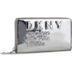 Duży Portfel Damski DKNY - 10017 Md Zip Around R832Y636 Silver SIL. Szare portfele damskie DKNY, ze skóry ekologicznej. Za 419,00 zł.