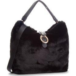 Torebka LIU JO - L Hobo Darsena Fur N68041 E0218 Nero 22222. Czarne torebki klasyczne damskie marki Liu Jo, z materiału. Za 739,00 zł.