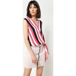 Bluzki damskie: Koralowa Bluzka Perfect Stripes