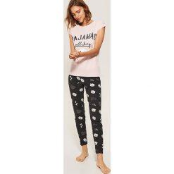 Dwuczęściowa piżama - Wielobarwn. Szare piżamy damskie marki Lauren Ralph Lauren, l, z bawełny. Za 59,99 zł.