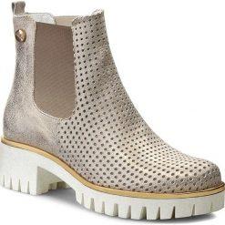Sztyblety CARINII - B3392/PB Dave Met 6715. Żółte buty zimowe damskie Carinii, z materiału, na obcasie. W wyprzedaży za 199,00 zł.