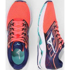 Buty sportowe damskie: Mizuno WAVE SHADOW  Obuwie do biegania treningowe fiery coral/white/blue depths