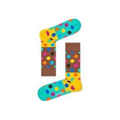 Skarpetki Happy Socks - Big Dot Block (BDB01-8000). Szare skarpetki męskie marki Happy Socks, w kolorowe wzory, z bawełny. Za 34,90 zł.