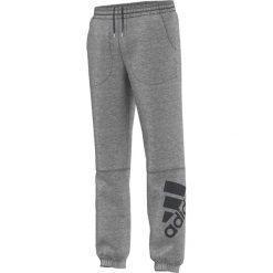 Chinosy chłopięce: Adidas Spodnie dziecięce Locker Room Brand Logo Pant J  szary r. 140 cm (AC3253)
