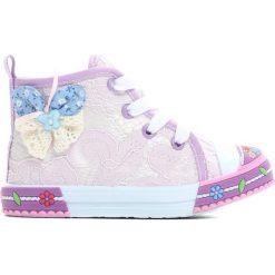 Buty sportowe dziewczęce: Fioletowe Trampki Sweeties
