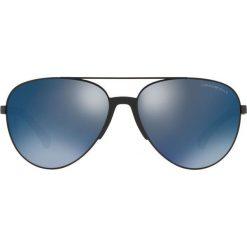 Emporio Armani - Okulary 0EA2059. Szare okulary przeciwsłoneczne męskie aviatory marki Emporio Armani, l, z nadrukiem, z bawełny, z okrągłym kołnierzem. Za 739,90 zł.
