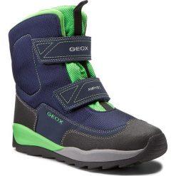 Buty zimowe chłopięce: Śniegowce GEOX – J Orizont B B. Abx F J740BF 01150 C4248 D Navy/Green