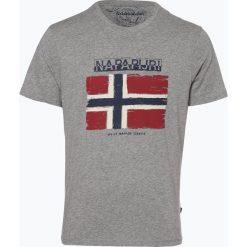 T-shirty męskie z nadrukiem: Napapijri - T-shirt męski, szary