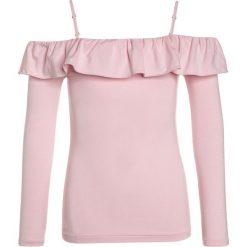 Odzież dziecięca: Polo Ralph Lauren RUFFLE  Bluzka z długim rękawem hint of pink