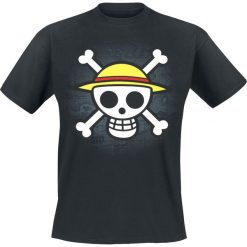 One Piece Skull With Map T-Shirt czarny. Czarne t-shirty męskie One Piece, l, z napisami. Za 79,90 zł.