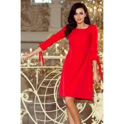 Sukienki: Carmen Sukienka z kokardkami - CZERWONA